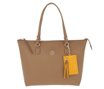 Love Tommy Medium Reversible Zipped Tote Light Brown