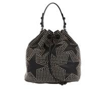 Studded Bucket Bag Black/Nickel Beuteltasche silber