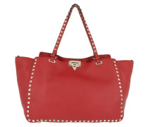 Rockstud Medium Tote Bag Rosso