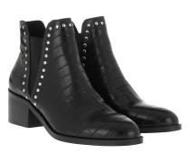 Boots Cade Bootie Leather Black Croco