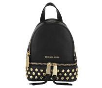 Rhea Zip XS Messenger Backpack Gold Black Rucksack