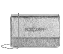 Umhängetasche Mini Shoulder Bag Piping Metallic Logo Silver