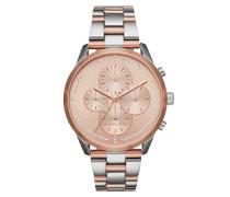 Slater Jetset Watch Silver/Rosegold Armbanduhr rosa