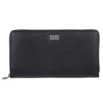 Kleinleder - Portafoglio Vitello Stampa Leather Wallet Nero