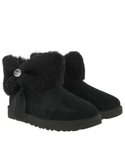 Boots Classic Boot Chinched Fur Mini Black schwarz