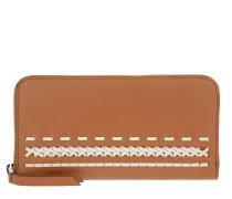 Zip-Around Wallet Brown/White Portemonnaie