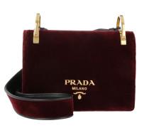 Velvet Shoulder Bag Burgundy Umhängetasche