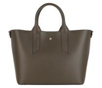 Tote Medium Handbag Calfskin Military Green/Op Natural