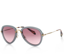 Miu Miu Sonnenbrille - MU 0MU 03Qs 55 Twh 3G2 - in grau - Sonnenbrille für Damen