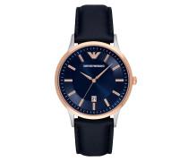 Uhr Three-Hand Date Leather Watch Blue