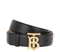 Gürtel TB Logo Belt Leather Black