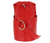 Medium B Bag Mastto Nappa Red Beuteltasche