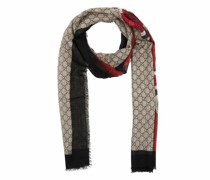Tücher & Schals Web and Kingsnake Print Wool Scarf