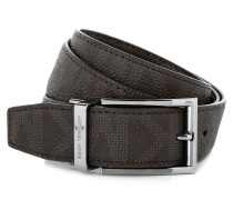 Reversible Signature Men's Belt Brown