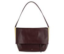 Flap Clasp Bag Burgundy Umhängetasche