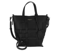 Tote Odita Mini Modern Lattice Bucket Bag Black