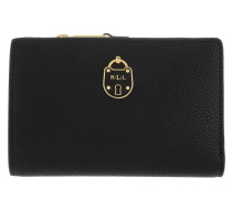 Pebbled Pu New Compact Wallet Small Black Portemonnaie
