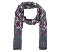 Schal - Printed Scarve Flowers Blue