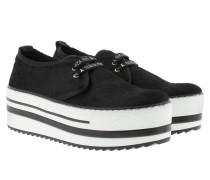 Sneakers - Fur High Sole Sneaker Black
