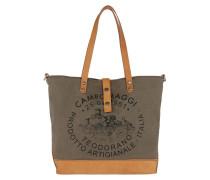 Shopp. L. Handled Jeans/Cow V.Militare+Naturale+St.Nera Tote cognac