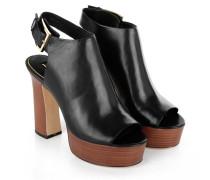 Pumps - Harper Platform Heel Leather Black