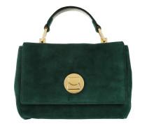 Liya Suede Clasp Umhängetasche Bag Imperial/Noir