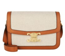 Umhängetasche Triomphe Medium Crossbody Bag Tan White