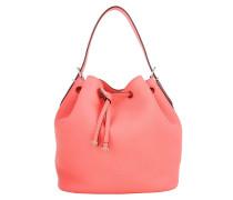 Tasche - Bloom Drawstring Bucket Bag Grained Calf Pasteque