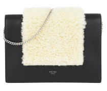 Frame Evening Clutch on Chain Natural