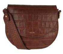 Rhea Croco Soft Shoulderbag Brown Umhängetasche