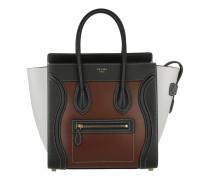 Tasche - Luggage Tote Multicolor Micro Chestnut - in braun, weiß - Henkeltasche für Damen