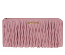 Wallet Matelassé Rectangular Rosa Portemonnaie gold