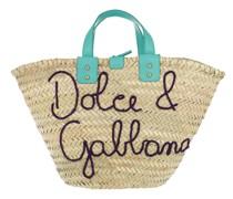 Shopper Raffia Kendra Bucket Bag Turchese/Smeraldo