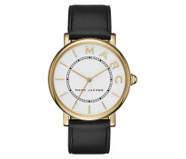 Ladies Marc Jacobs Classic Watch Black/White/Gold Armbanduhr gold