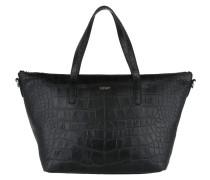 Helena Croco Soft Handbag Black Tote
