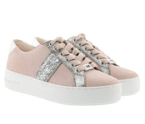 Poppy Stripe Lace Up Soft Pink Sneakers