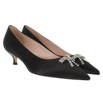 Pumps Derbie Kitten Heels Black