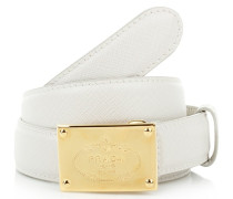 Kleinleder - Cinture Saffiano White Gold