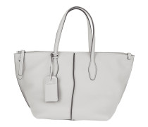 Tasche - Zip Shopping Bag Leather Light Grey