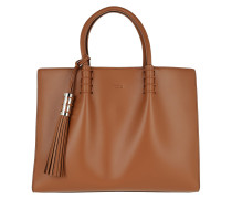 Tod's Medium Shopping Bag Brandy Tote
