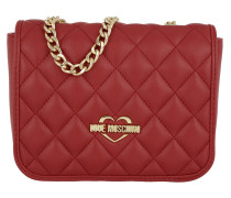 Quilted Nappa Umhängetasche Bag Small Rosso
