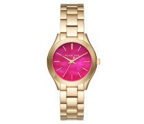 Ladies Mini Slim Runway Watch Gold/ Pink Armbanduhr gold