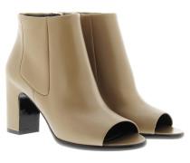 Boots & Booties - Open Toe Booties Beige Clay