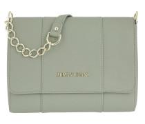 Shoulder Bag Chain Strap Taupe Umhängetasche