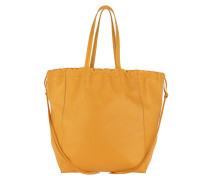 Large Coulisse Shoulder Bag Yellow Tote