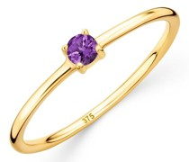 Ring 9K with Amethyst