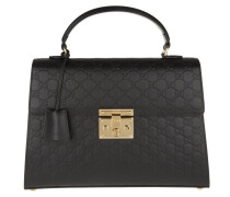 Padlock Signature Top Handle Bag Nero