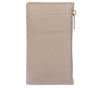 Portemonnaie Zipped Compact Card Holder Leather Nude