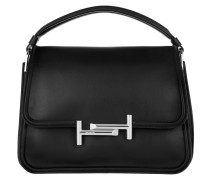 Small Double T Bag Black Satchel