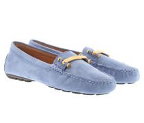 Caliana Suede Loafers Wedgewood Blue